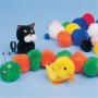 X100 Pompons à coller multicolores