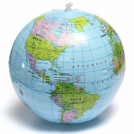 Ballon gonflable globe Planète Terre