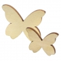X50 Papillon en bois à peindre