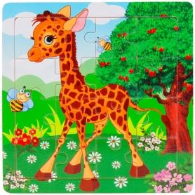 Puzzle en bois Girafe 16 pièces