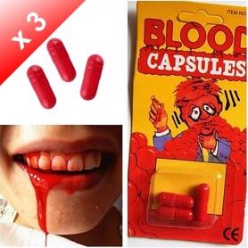 X3 Capsules de faux sang
