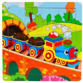 Puzzle en bois Train 16 pièces