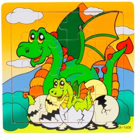 Puzzle en bois Dinosaure 16 pièces