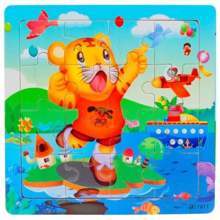 Puzzle en bois Tigre 16 pièces