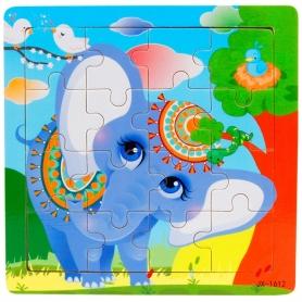 Puzzle en bois Eléphant 16 pièces