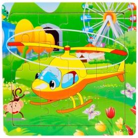 Puzzle en bois Hélicoptère 16 pièces