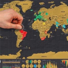 Carte du Monde à Gratter Edition de Luxe