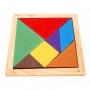 Tangram en bois multicolore
