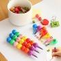 X7 Crayons à papier multicolores