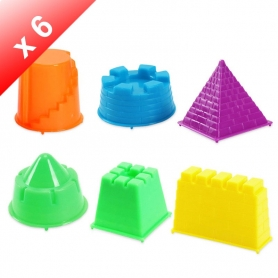 X6 Mini Moules Chateau pour pâte à modeler