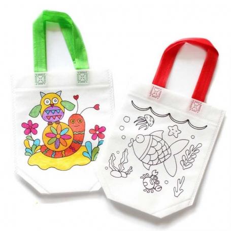 Sac à colorier DIY enfant
