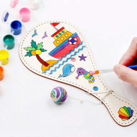 Raquette Tap Tap en bois à peindre