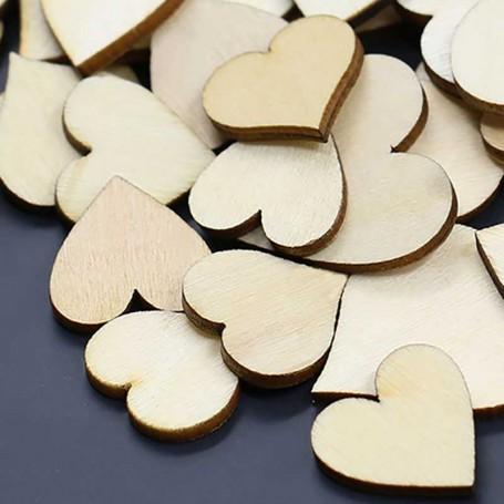 X100 Coeur en bois à peindre