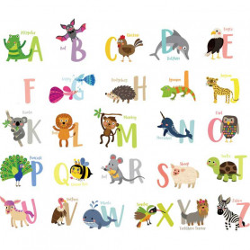Sticker alphabet pour chambre d'enfant