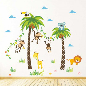 Stickers Jungle chambre d'enfants