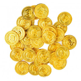 X50 Pièces d'or Trésor de pirate