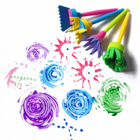 X4 Brosse pinceau peinture pour enfant
