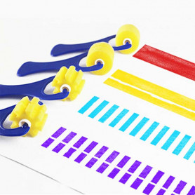 X4 Rouleaux mousse peinture à Motifs enfant
