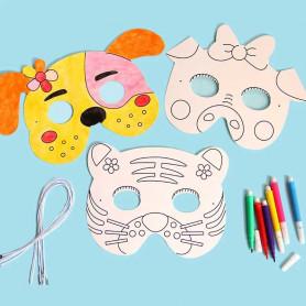 X8 Masques de déguisement à colorier