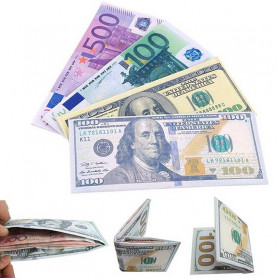 Portefeuille en forme de billet Euro
