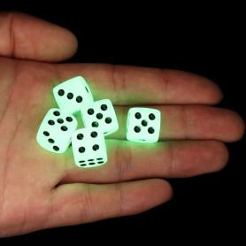 X5 Dés à lancer phosphorescent fluorescent