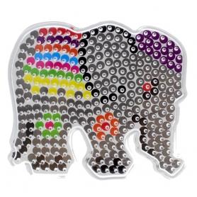 Plaque Eléphant pour perles à repasser