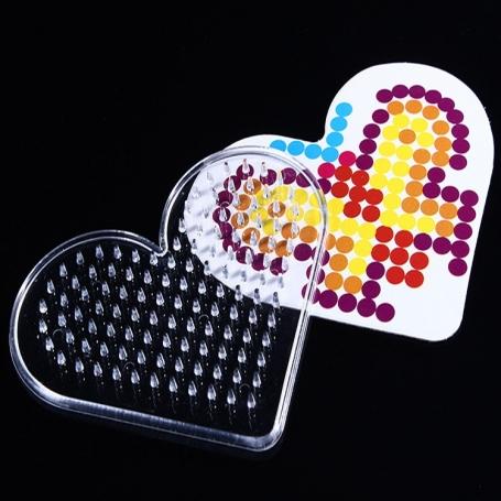Plaque Coeur pour perles à repasser