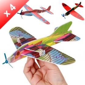 X4 Avion Planeur en polystyrene à monter