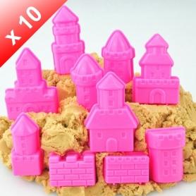 X10 Moules chateau de sable