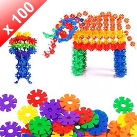 X100 Flocons de neige jeux de construction à assembler
