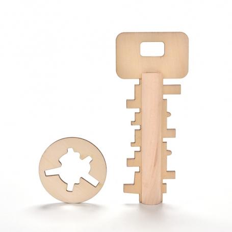 Casse-tête Clé en bois puzzle