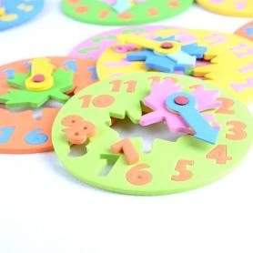 Horloge puzzle en mousse